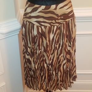 ALLISON TAYLOR Animal print skirt
